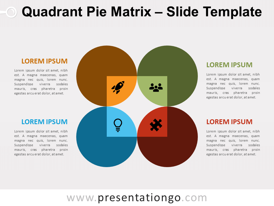 Free Quadrant Pie Matrix for PowerPoint