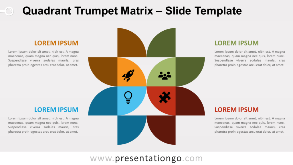 Free Quadrant Trumpet Matrix for PowerPoint and Google Slides