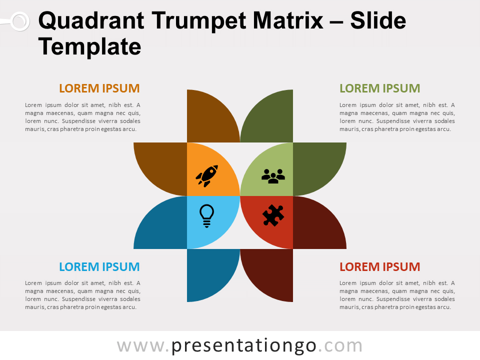 Free Quadrant Trumpet Matrix for PowerPoint
