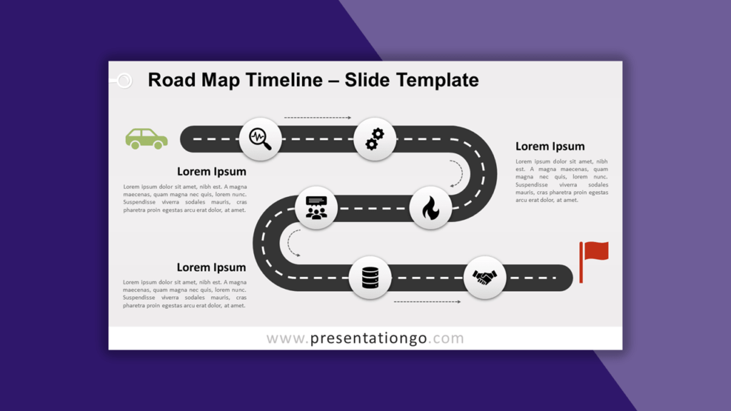 Road Map Timeline for PowerPoint and Google Slides