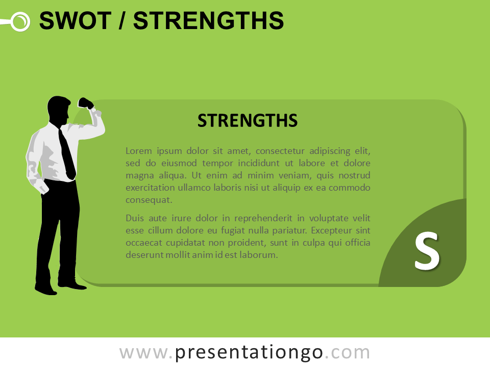 Free SWOT Businessmen Strenghts for PowerPoint