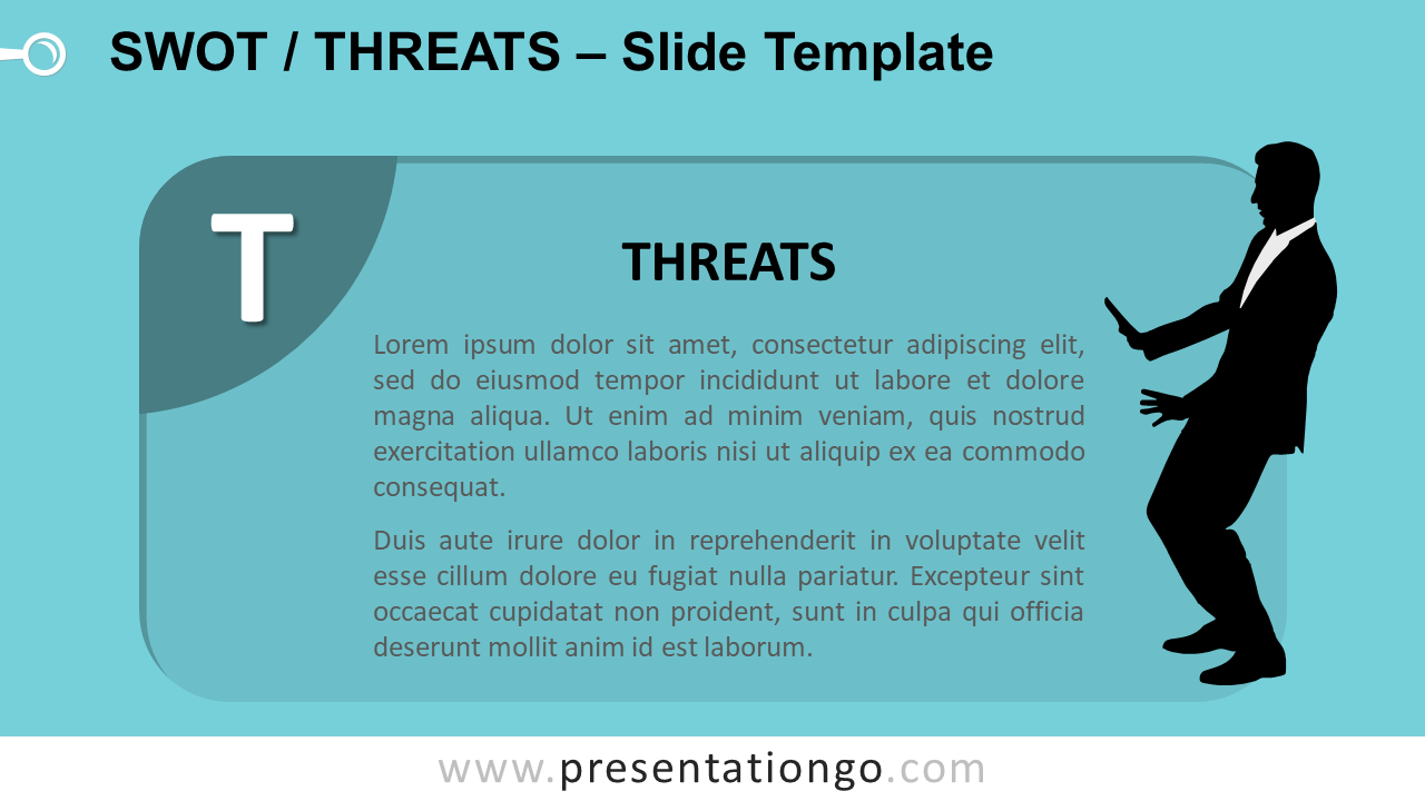 Free SWOT Businessmen Threats for PowerPoint and Google Slides