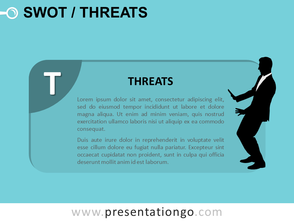 Free SWOT Businessmen Threats for PowerPoint