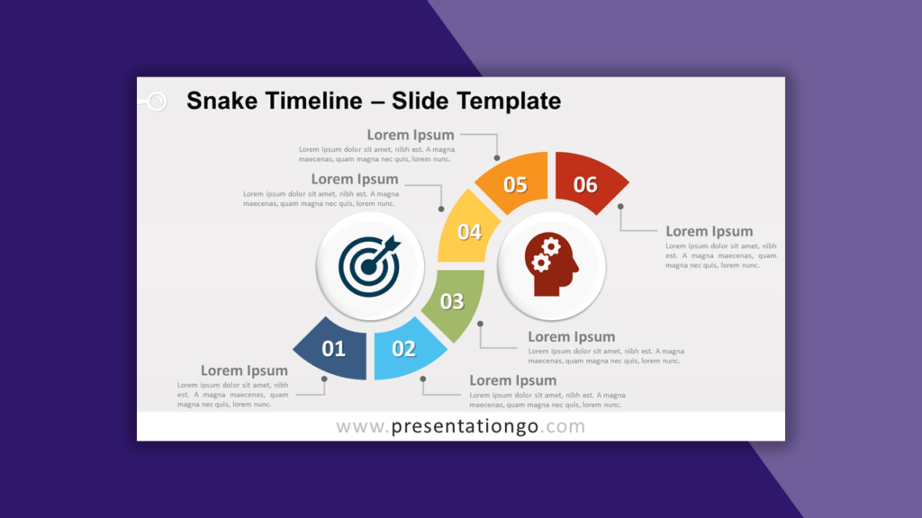 Snake Timeline for PowerPoint and Google Slides