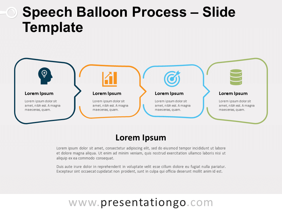 Free Speech Balloon Process for PowerPoint