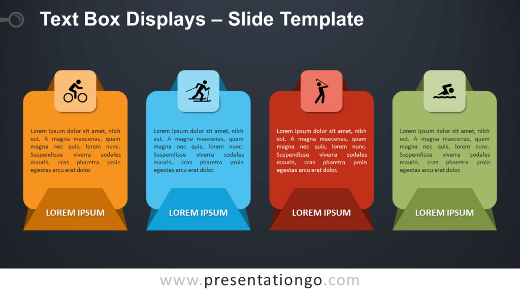 Free Text Box Displays Infographic for PowerPoint and Google Slides
