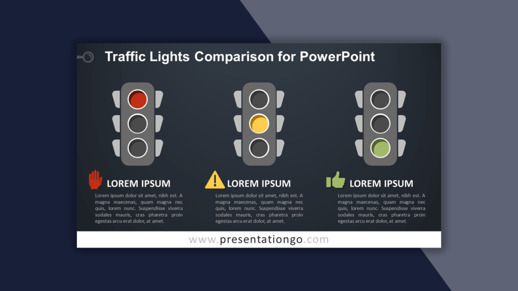 Traffic Lights Comparison Template for PowerPoint