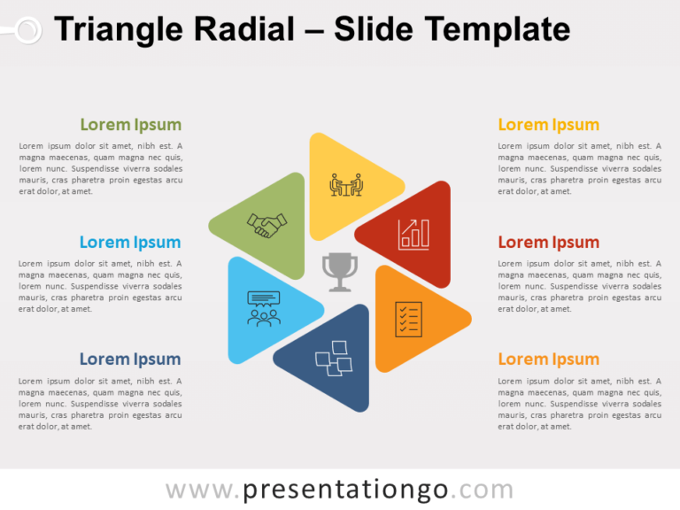 Free Triangle Radial for PowerPoint