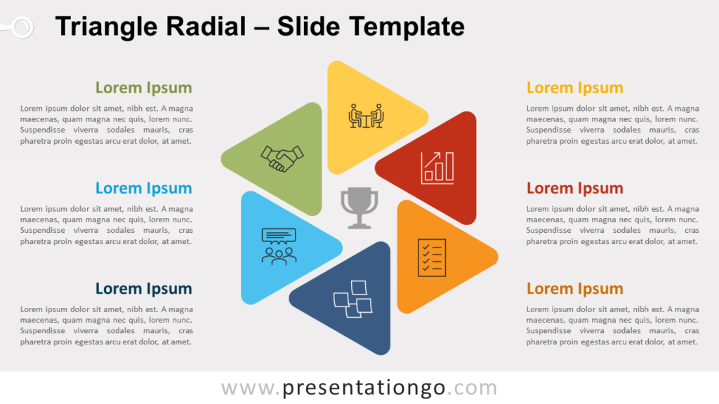 Free Triangle Radial for PowerPoint and Google Slides