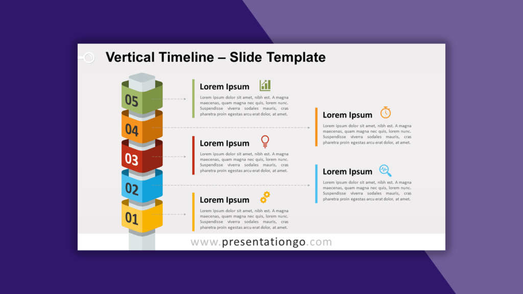 Vertical Timeline for PowerPoint and Google Slides