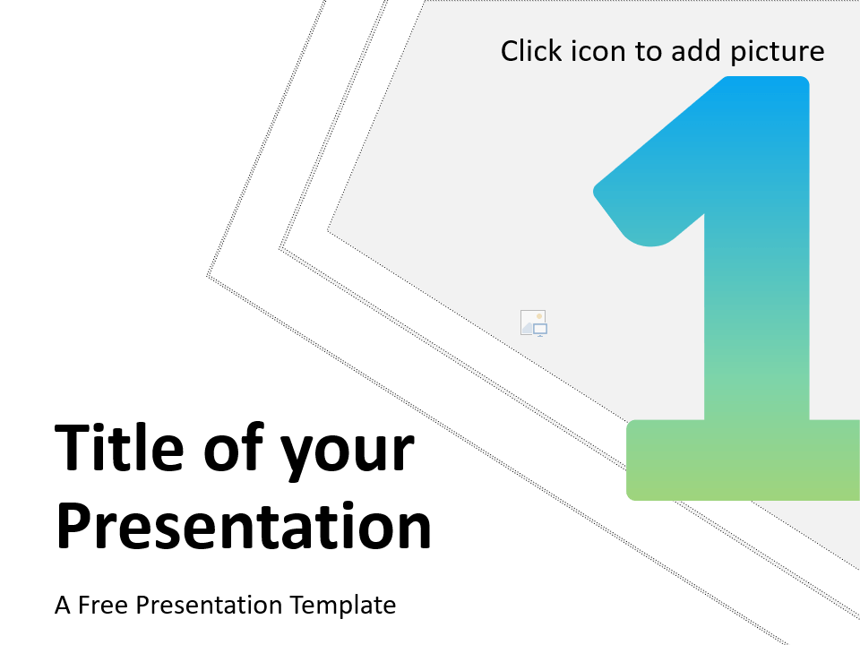 Free Gradient Numbers Template for Google Slides - Cover Slide