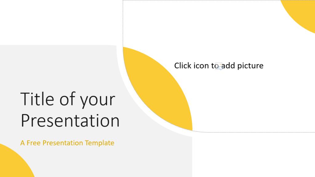 Free Lens Template for Google Slides - Cover Slide