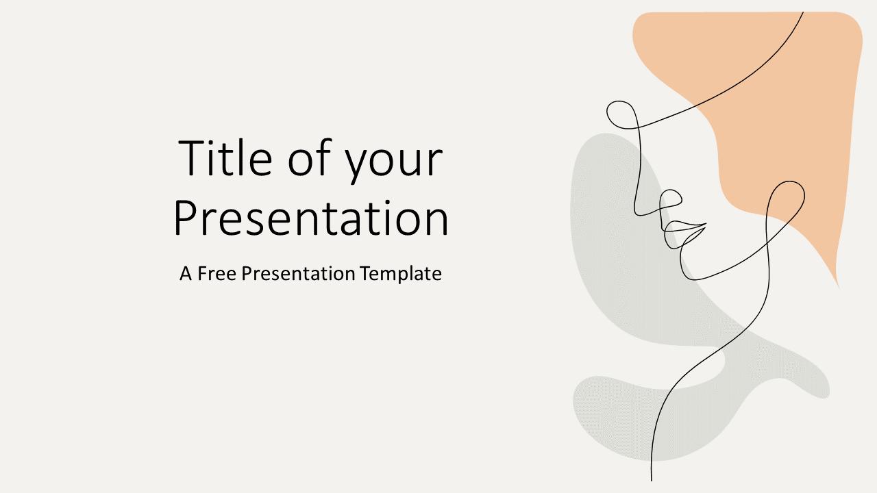 Free Portraits Template for Google Slides - Cover Slide