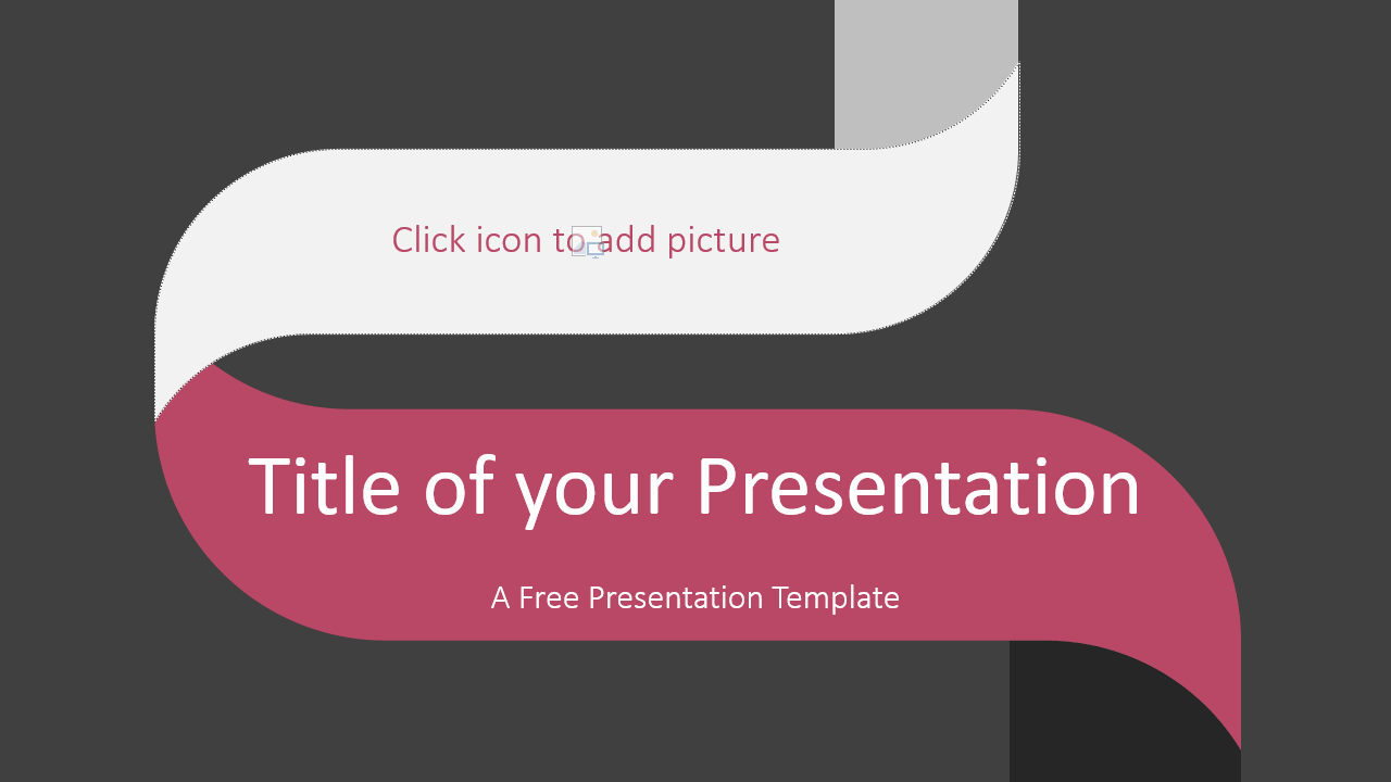 Free Twisted Strip Template for Google Slides - Cover Slide
