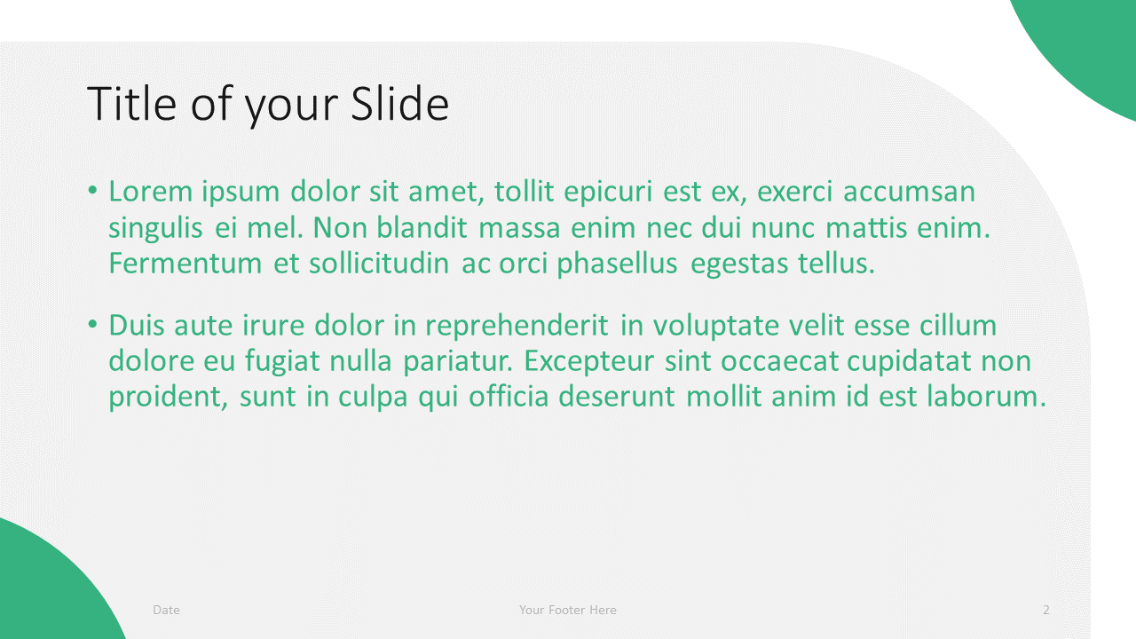 Free Lens Template for Google Slides – Title and Content Slide (Variant 1)