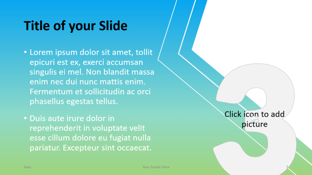 Free Gradient Numbers Template for Google Slides – Title and Content Slide (Variant 2)
