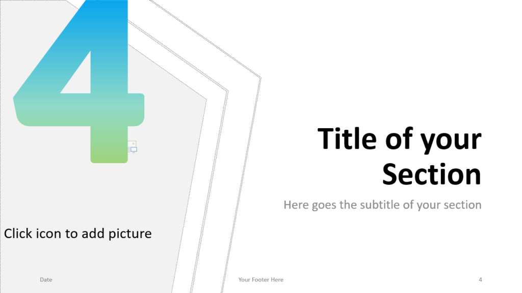 Free Gradient Numbers Template for Google Slides – Section Slide (Variant 1)