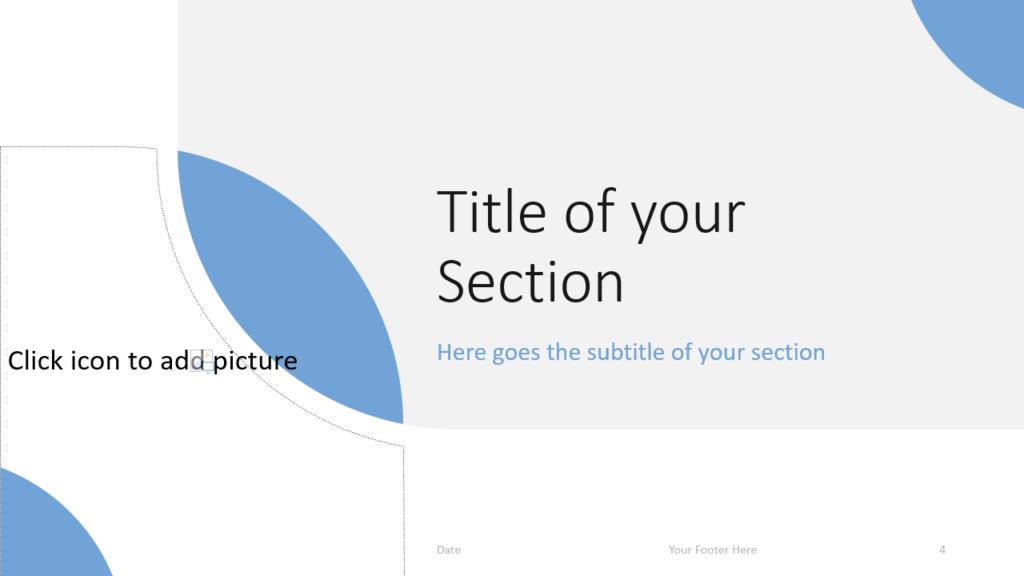 Free Lens Template for Google Slides – Section Slide (Variant 1)