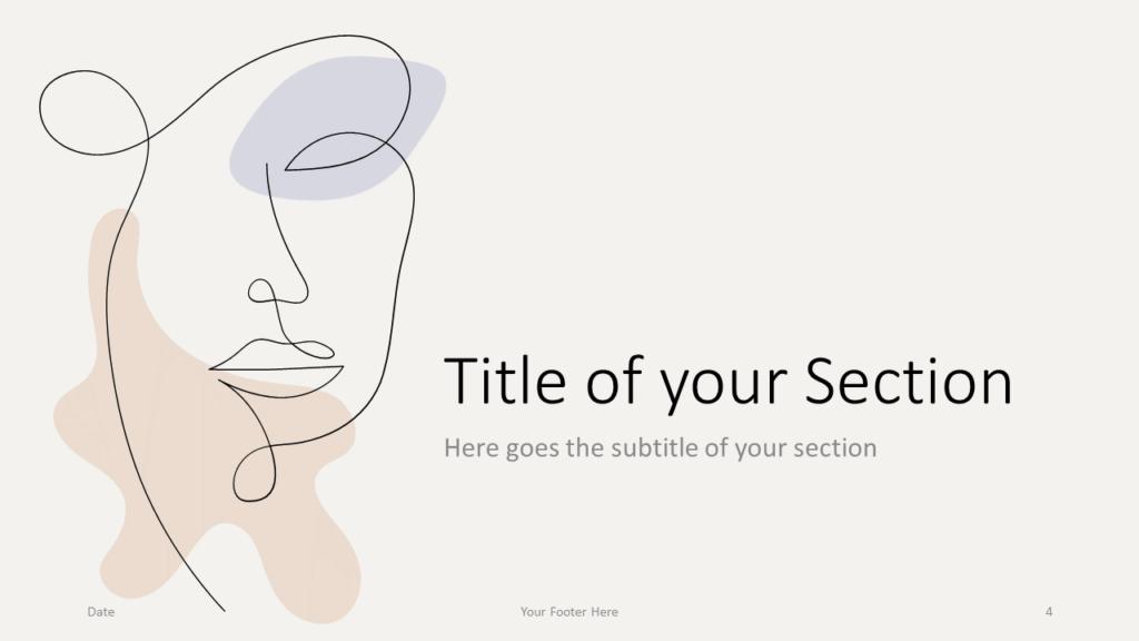 Free Portraits Template for Google Slides – Section Slide (Variant 1)