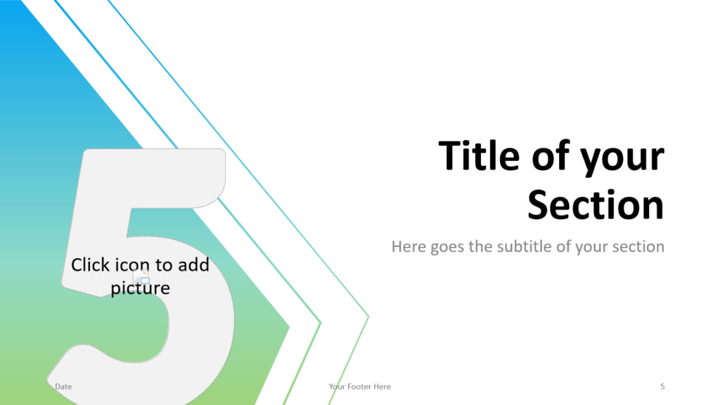 Free Gradient Numbers Template for Google Slides – Section Slide (Variant 2)