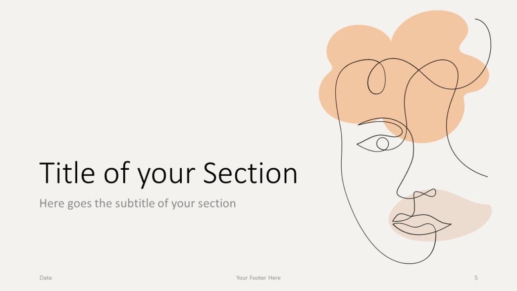 Free Portraits Template for Google Slides – Section Slide (Variant 2)