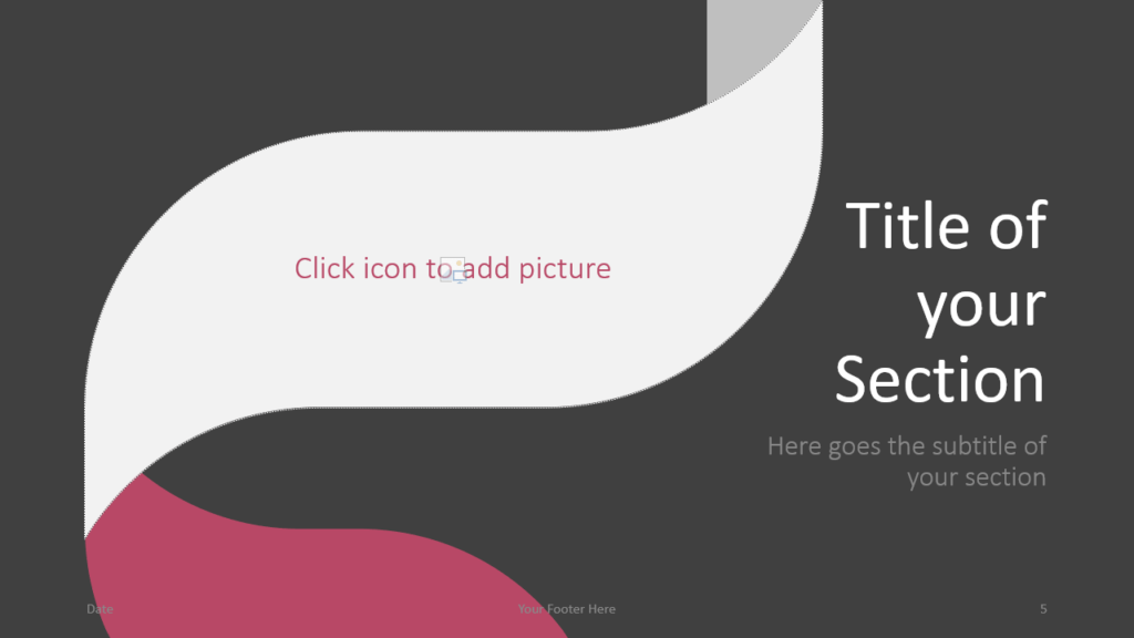 Free Twisted Strip Template for Google Slides – Section Slide (Variant 2)