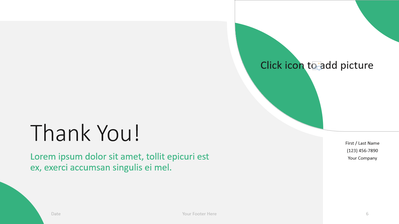 Free Lens Template for Google Slides - Closing / Thank you