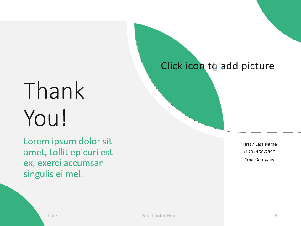 Free Lens Template for PowerPoint - Closing / Thank you