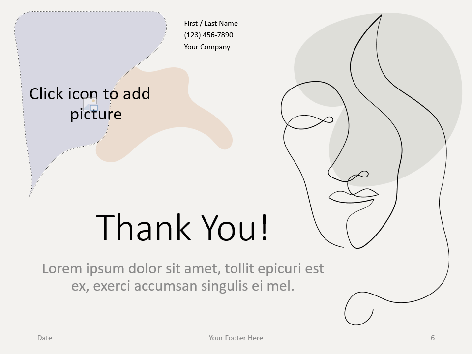 Free Portraits Template for PowerPoint - Closing / Thank you