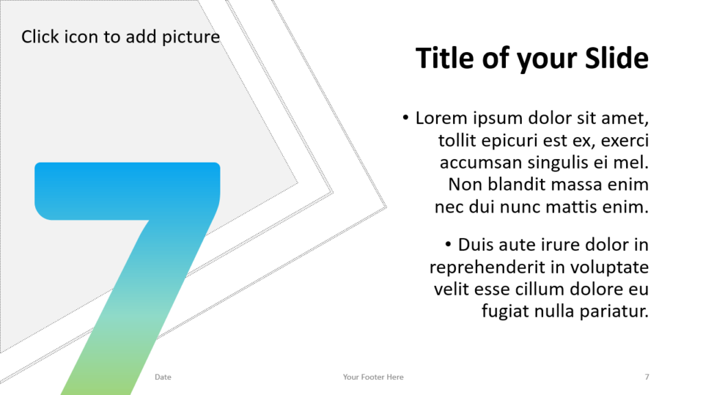 Free Gradient Numbers Template for Google Slides – Title and Content Slide (Variant 3)