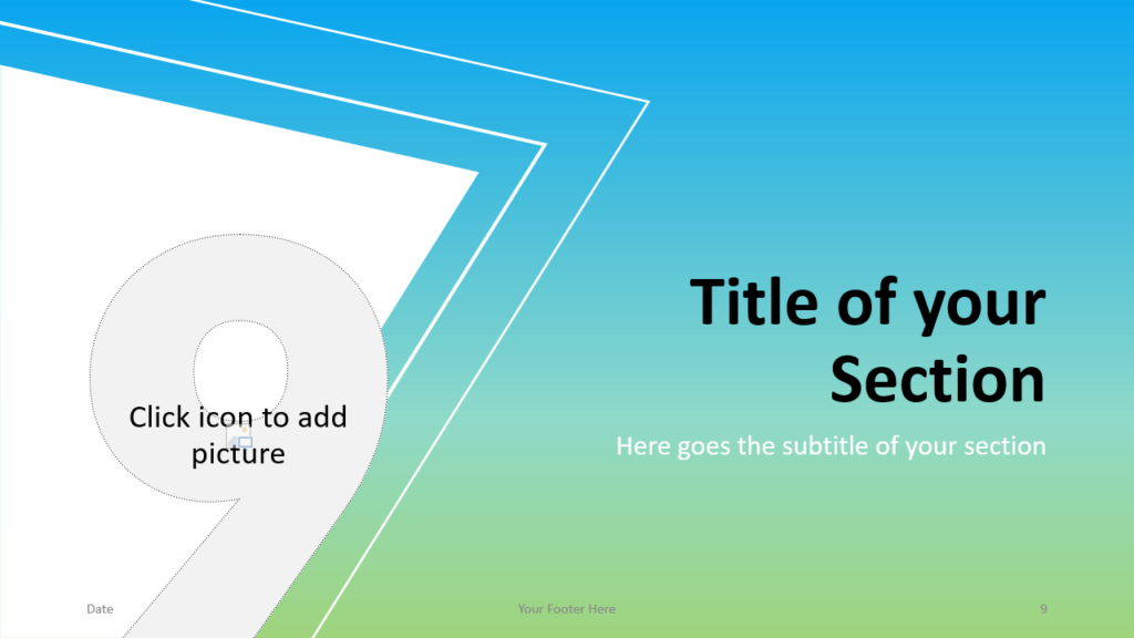 Free Gradient Numbers Template for Google Slides – Section Slide (Variant 3)