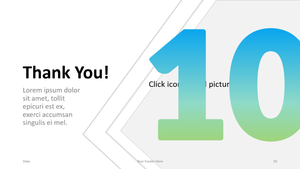 Free Gradient Numbers Template for Google Slides – Section Slide (Variant 5)