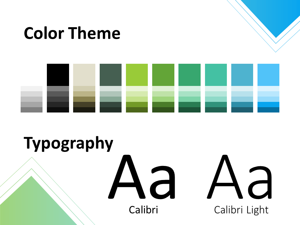 Free Gradient Numbers Template for PowerPoint – Colors and Fonts