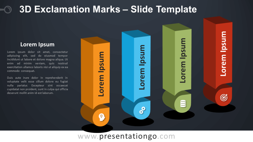 Free 3D Exclamation Marks Infographic for PowerPoint and Google Slides