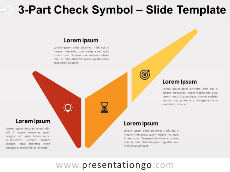 Free 3-Part Check Symbol for PowerPoint