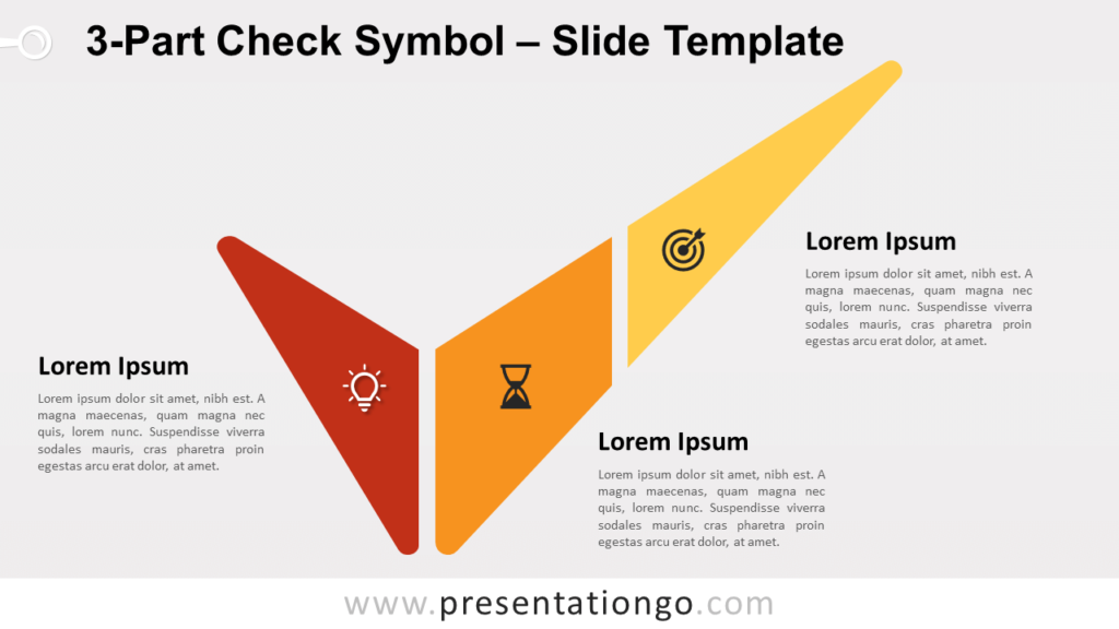 Free 3-Part Check Symbol for PowerPoint and Google Slides
