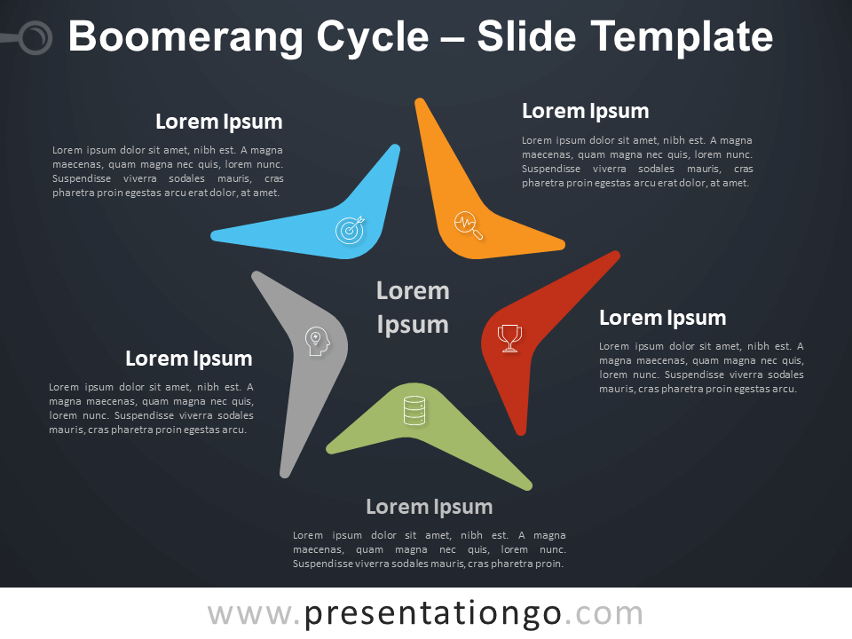 Free Boomerang Cycle Diagram for PowerPoint