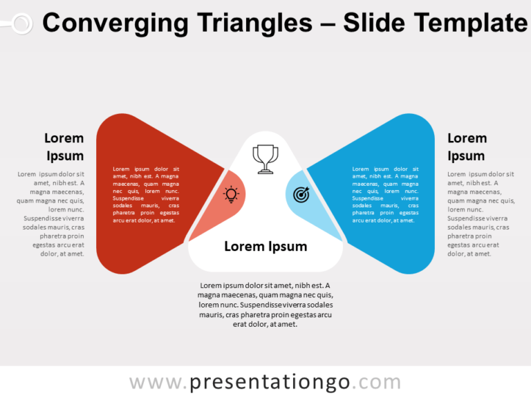Free Converging Triangles for PowerPoint