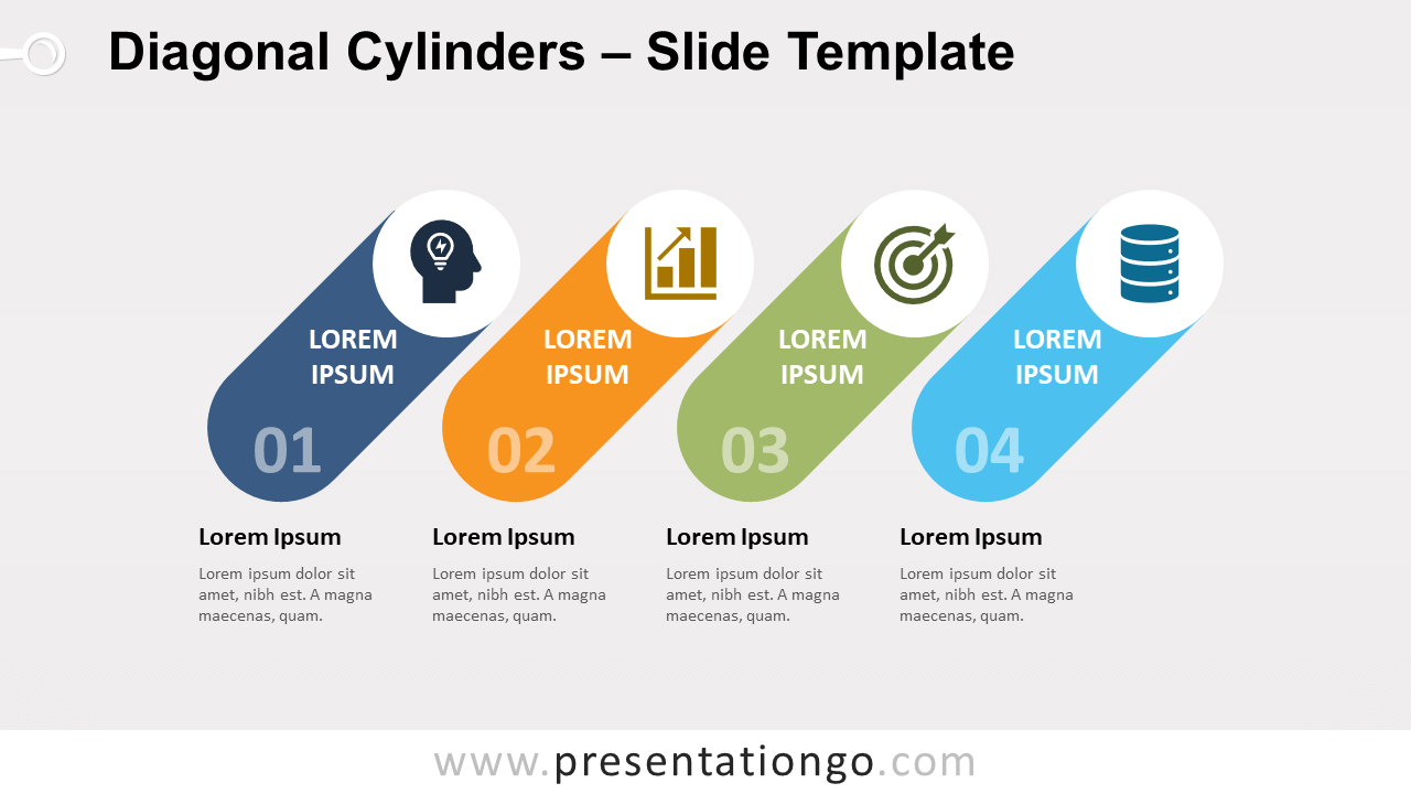 Free Diagonal Cylinders for PowerPoint and Google Slides