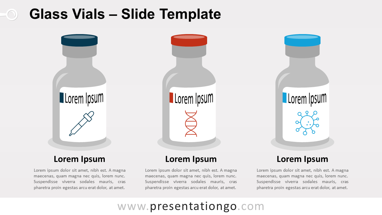 Free Glass Vials for PowerPoint and Google Slides
