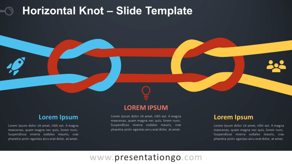 Free Horizontal Knot Infographics for PowerPoint and Google Slides