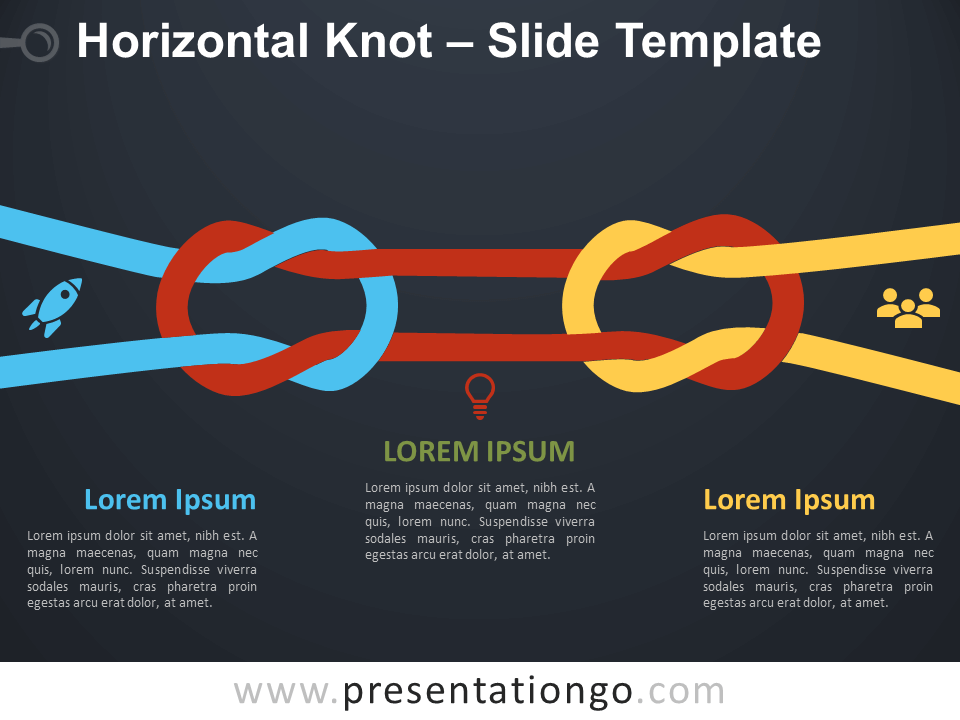 Free Horizontal Knot Infographics for PowerPoint