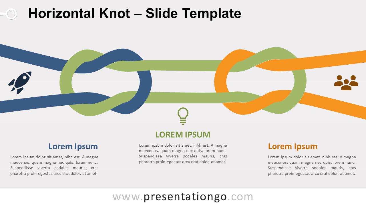 Free Horizontal Knot for PowerPoint and Google Slides
