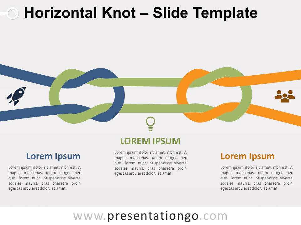 Free Horizontal Knot for PowerPoint