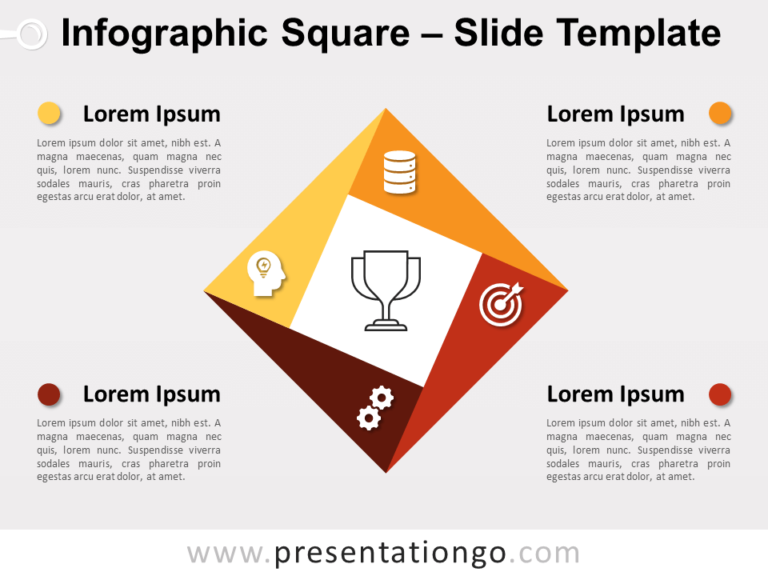 Free Infographic Square for PowerPoint