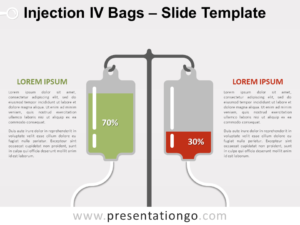 Free Injection IV Bags for PowerPoint