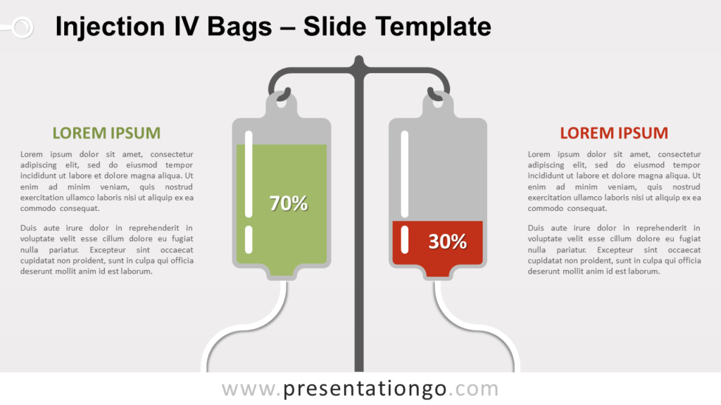 Free Injection IV Bags for PowerPoint and Google Slides