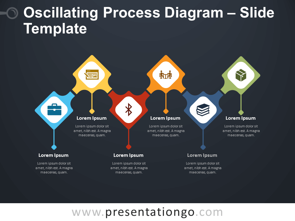 Free Oscillating Process Diagram Infographics for PowerPoint