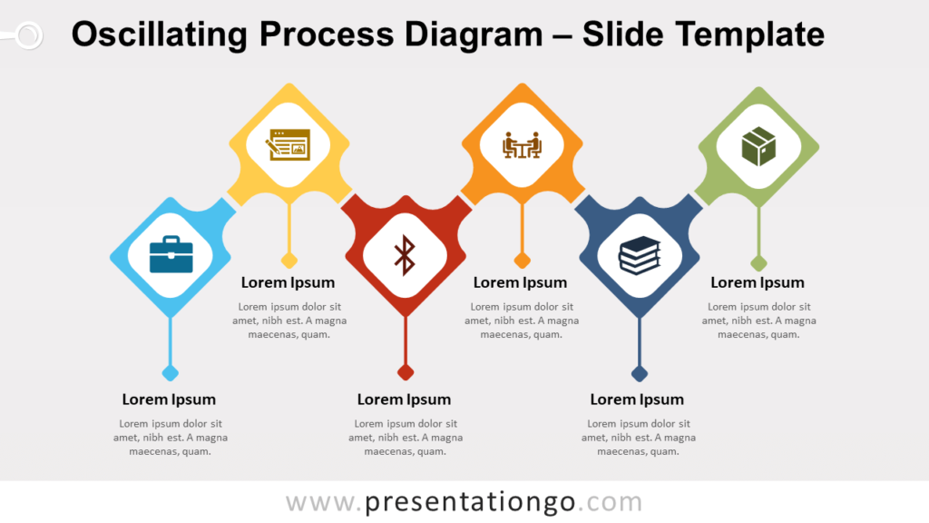 Free Oscillating Process Diagram for PowerPoint and Google Slides