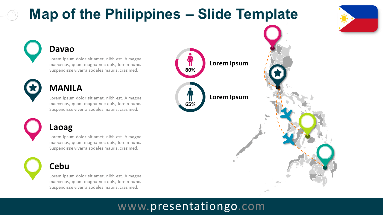 Free Map of Philippines for PowerPoint and Google Slides